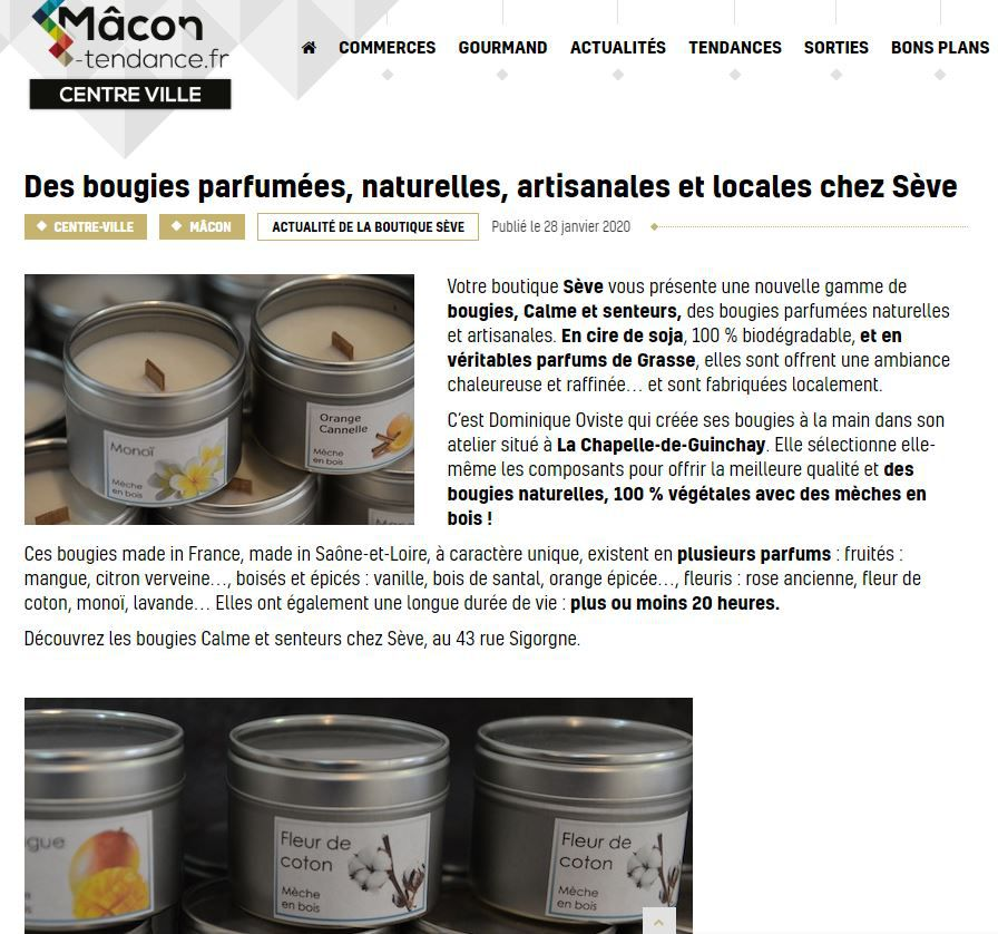 article de Mâcon tendances